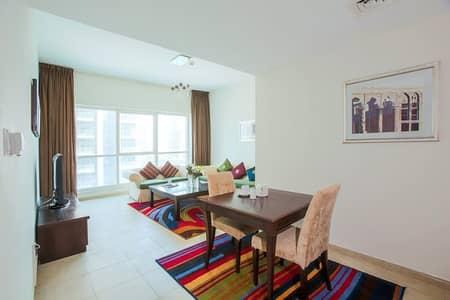 فلیٹ 1 غرفة نوم للايجار في دبي مارينا، دبي - Stunning view to Dubai Marina