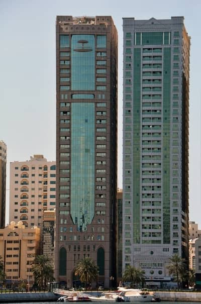 Shop for Rent in Al Majaz, Sharjah - Excellent Location , Bukhatir Tower Facing Main Buhaira Cornish, Starbucks Bldg, Shop For Rent ,