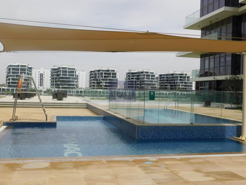 Furnished 2 BR + Maid With Golf View
