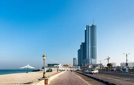2 Bedroom Flat for Sale in Corniche Ajman, Ajman - Fully Sea View 2bhk Apartment Available In Corniche tower Ajman