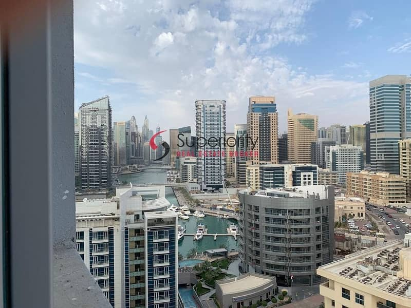 Marina View and Sea View   2BR plus Storage For Rent in DEC Tower