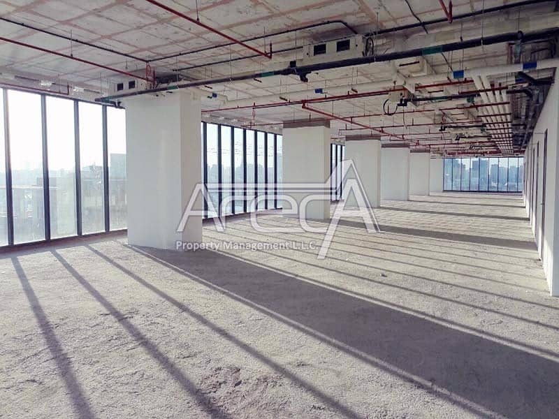 Big Office Space in Al Reem Island! Sea Front Core n Shell in Tamouh Tower