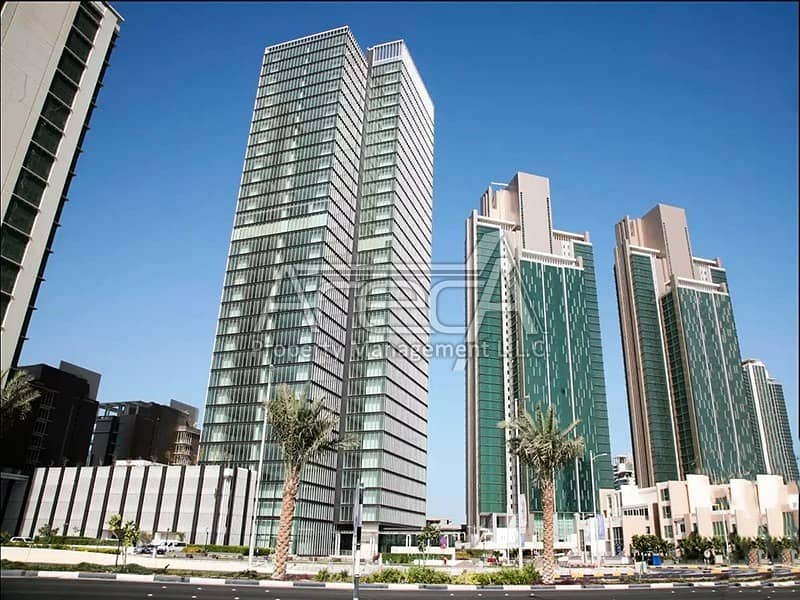10 Big Office Space in Al Reem Island! Sea Front Core n Shell in Tamouh Tower