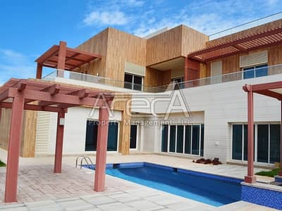 6 Bedroom Villa for Rent in The Marina, Abu Dhabi - Luxury at Best! Brand New 6BR Family Villa with Pvt Garden and Pool!