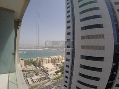 شقة 1 غرفة نوم للايجار في دبي مارينا، دبي - Partial Sea View I High Floor I Ocean Heights