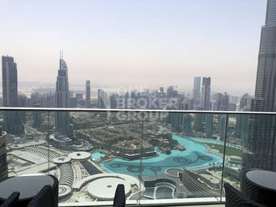 فلیٹ 1 غرفة نوم للبيع في وسط مدينة دبي، دبي - Full Fountain and Burj View| High Floor| Well Priced