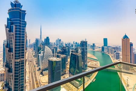 3 Bedroom Apartment for Rent in Business Bay, Dubai - Brand New | Panoramic views| High floor