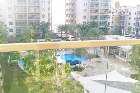 شقة 2 غرفة نوم للبيع في الروضة، دبي - Pool view 2 B/R+study in Greens