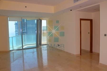 شقة 1 غرفة نوم للبيع في دبي مارينا، دبي - Large & bright 1BR Sea & Marina view Trident Grand