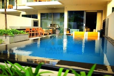 شقة 1 غرفة نوم للايجار في نخلة جميرا، دبي - Daily rent Luxurious furnished private pool & garden