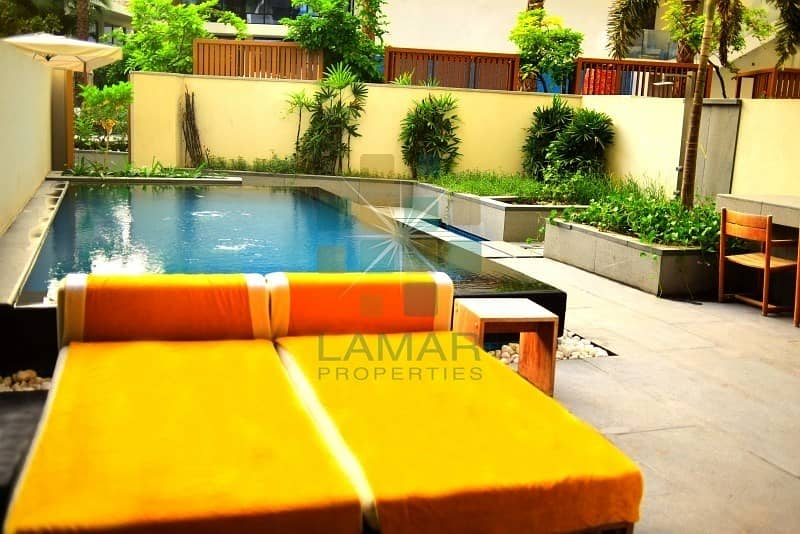 11 Daily rent Luxurious furnished private pool & garden