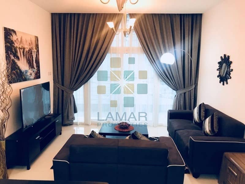 2 Pool View Spacious & Furnished 1BR for Sale