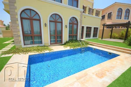 5 Bedroom Villa for Sale in Jumeirah Golf Estate, Dubai - Stunning Furnished Villa With Picturesque Lake View