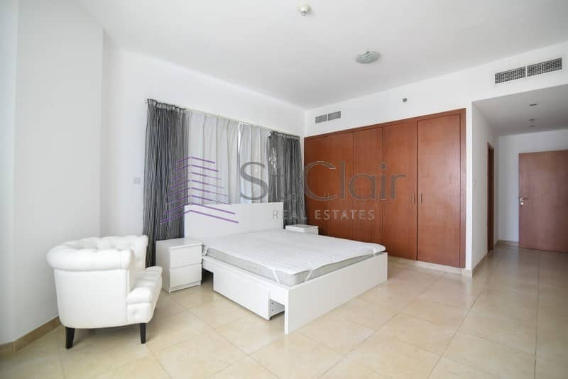 Spacious 2 Beds + Maids | Marina View | Mid Floor