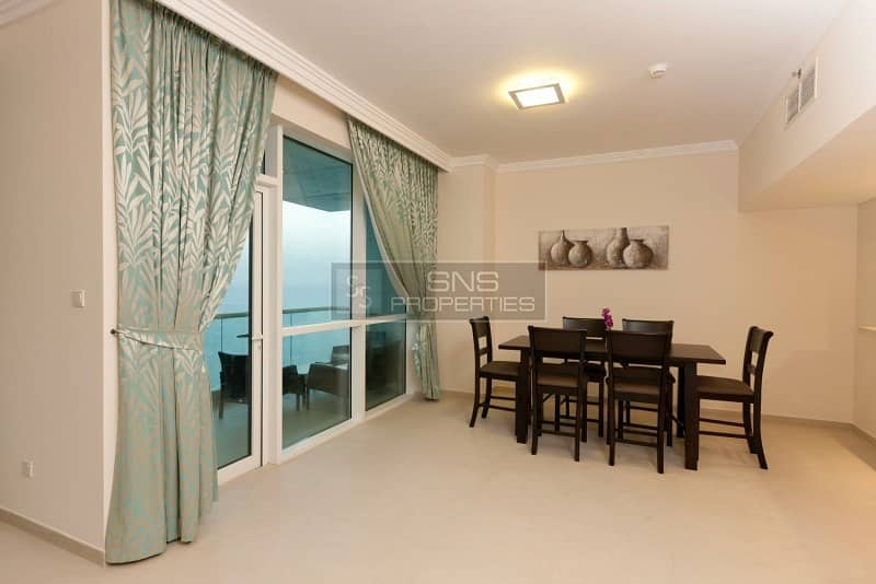 Enticing  Sea View I Furnished  I 2br+M