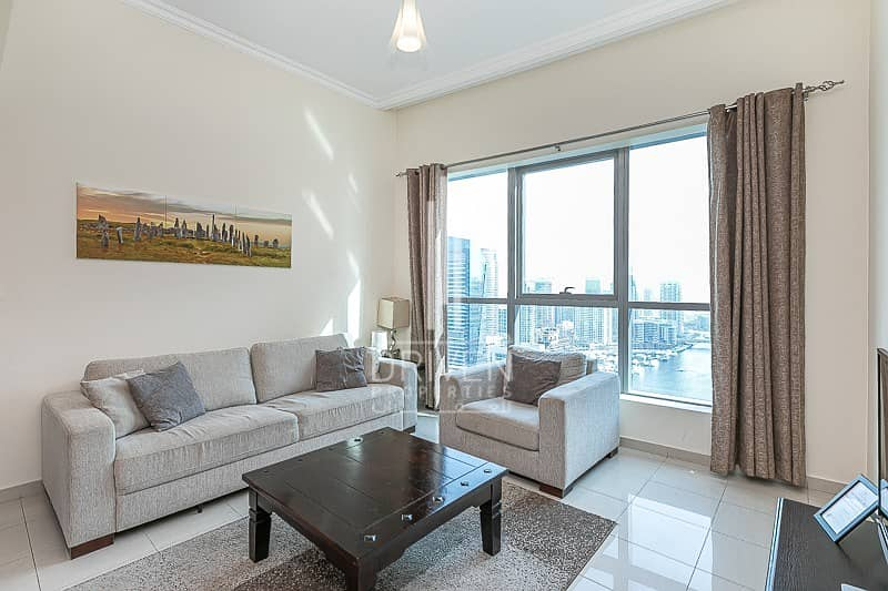 High Floor Level 1 Bed Apt in Dubai Marina