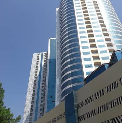 Studio for Rent in Al Bustan, Ajman - Nice Studio with Parking and Balcony in New Orient Towers at Downtown Ajman