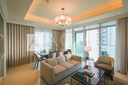 2 Bedroom Flat for Rent in Downtown Dubai, Dubai - Corner unit with Full Burj Khalifa View