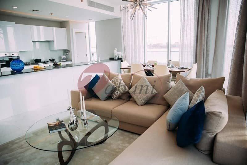 Furnished   1BR + Maids Room Water View