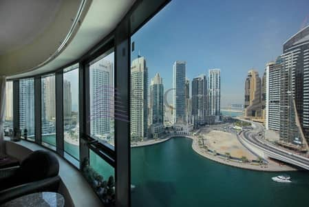 3 Bedroom Flat for Rent in Dubai Marina, Dubai - Fully Furnished 3 Beds | Mid Floor | Marina View
