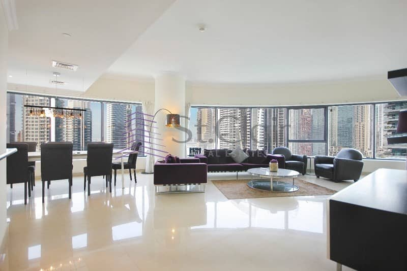 2 Fully Furnished 3 Beds | Mid Floor | Marina View