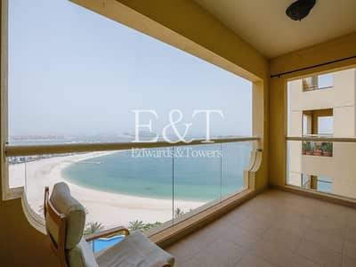 فلیٹ 1 غرفة نوم للايجار في نخلة جميرا، دبي - Arabian Gulf/Burj views