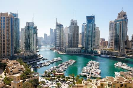2 Bedroom Flat for Sale in Dubai Marina, Dubai - Vacant On Transfer 2BR with Full Marina View+Study