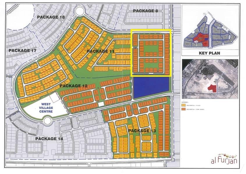 7 VIP Location   Four Townhouse Plot in Al Furjan