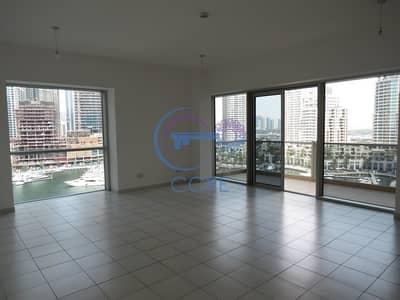 فلیٹ 3 غرفة نوم للايجار في دبي مارينا، دبي - Marina & Sea View | 3 BR + Maid | Large Balcony