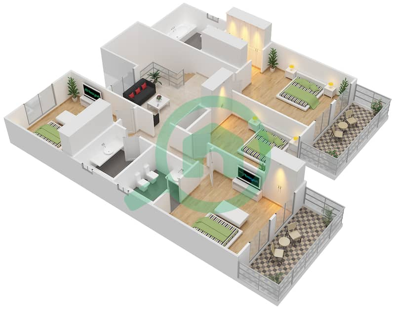 Floor plans for Type 7 5-bedroom Villas in The Meadows 9 ...