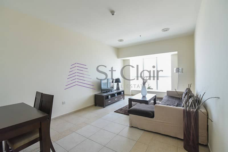 2 Furnished 2 Beds w/ Balcony | Sea View | Low Floor