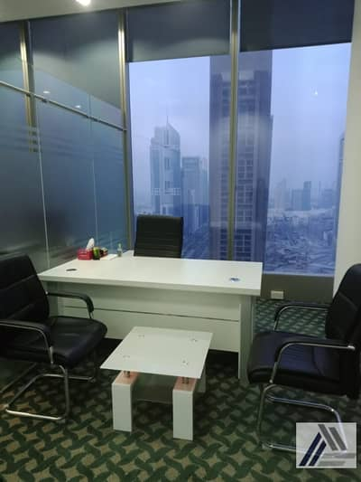 Office for Rent in Sheikh Zayed Road, Dubai - Independent Fully Furnished|Serviced Luxurious Offices|Burj khalifa and sheikh zayed road view
