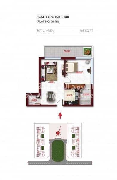 6 Stunning 1 Bedroom in Glitz Residence at Studio City