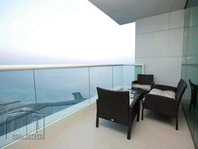 1 Sea View - Furnished - Modern 2 Bedroom + Maid