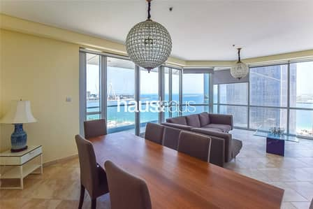 3 Bedroom Apartment for Rent in Jumeirah Beach Residence (JBR), Dubai - Panoramic Sea View | Furnished | 3BR + Maid