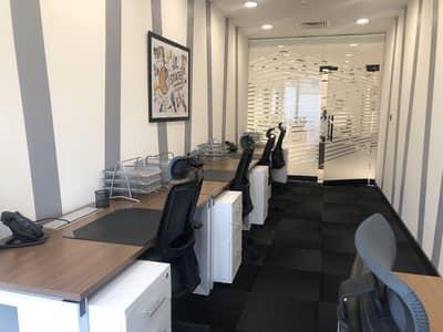 مکتب  للايجار في شارع الشيخ زايد، دبي - Best furnished Serviced offices for rent in Dubai