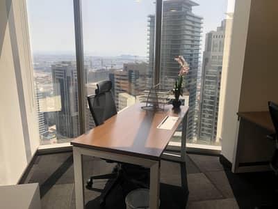 مکتب  للايجار في شارع الشيخ زايد، دبي - Fully Furnished Office space ready | Ejari | Estidama