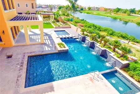 5 Bedroom Villa for Sale in Jumeirah Golf Estate, Dubai - Custom built | Lake and Golf view | Payment Plan
