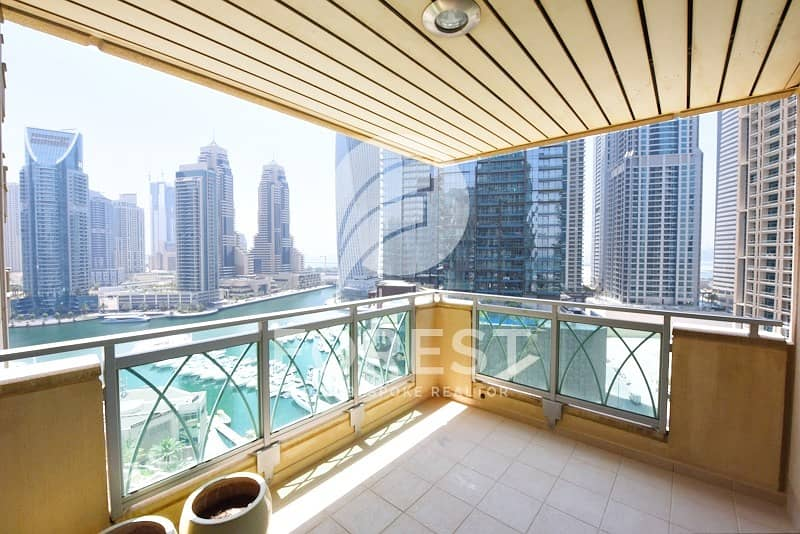Mid Floor | Fully Furnished |Partial Marina | 3BR