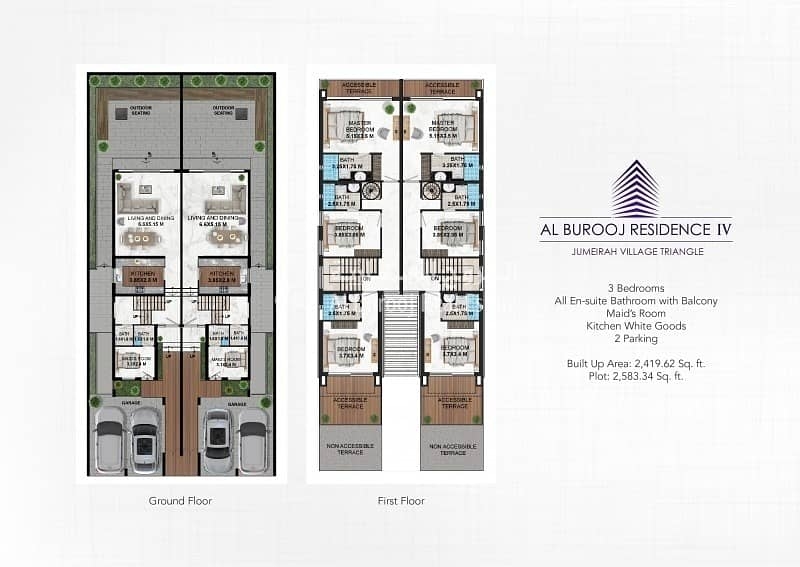 12 Brand New 3 Bedroom Townhouse In Front of School at JVT