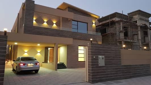 فیلا 5 غرفة نوم للبيع في الزهراء، عجمان - فيلا جديده تصميم مودرن مساحه بناء كبيره تشطيب سوبر ديلوكس