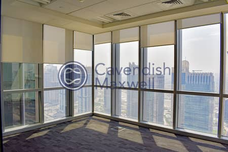 Office for Rent in Dubai Marina, Dubai - Fitted I Partitioned I High Floor I Marina Plaza