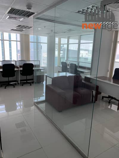 Office for Rent in Business Bay, Dubai - FULLY FURNISHED OFFICE WITH PARTITION