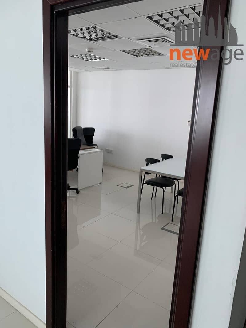 7 FULLY FURNISHED OFFICE WITH PARTITION