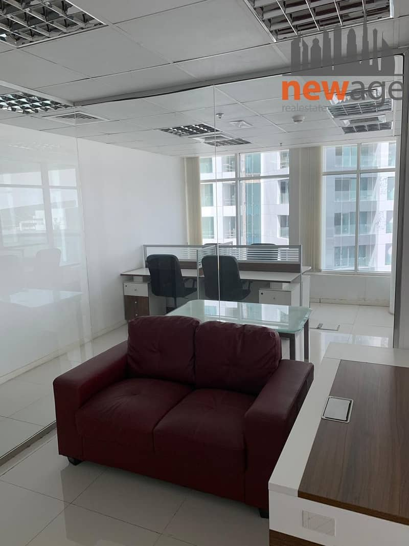 2 FULLY FURNISHED OFFICE WITH PARTITION