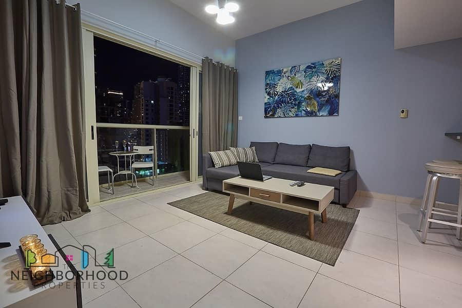 2 Fully Furnished 1 bed Marina View Tower A