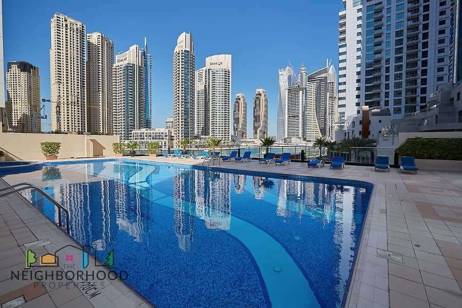 10 Fully Furnished 1 bed Marina View Tower A