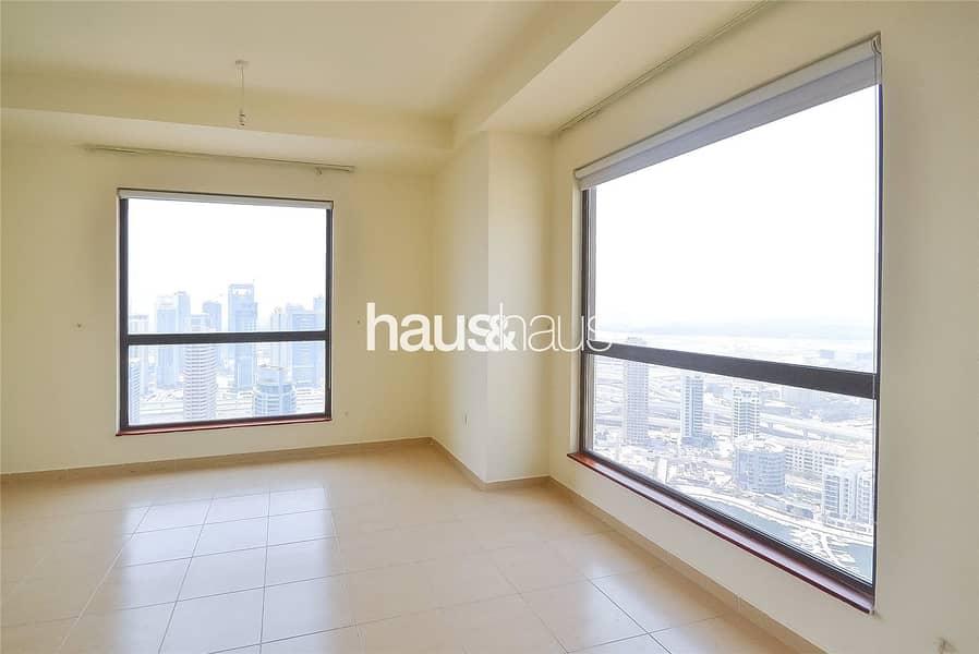 High floor   Marina views   Unfurnished