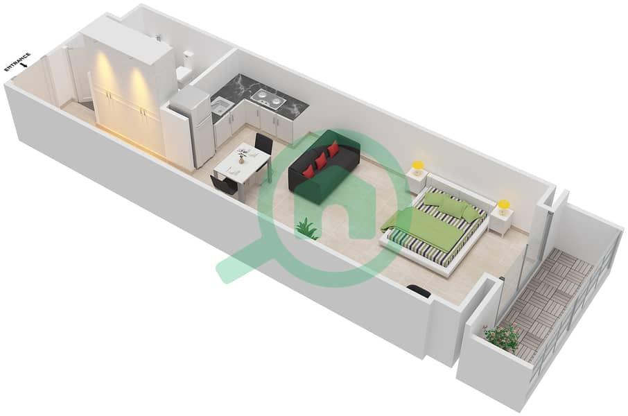المخططات الطابقية لتصميم النموذج ELITE شقة  - ليفينغ ليجيندز image3D