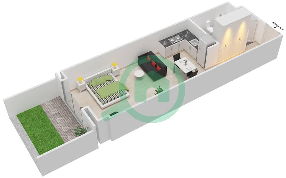 المخططات الطابقية لتصميم النموذج DELUXE شقة  - ليفينغ ليجيندز image3D